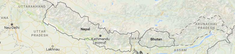 Karte Bhutan querformat