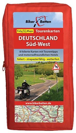 Motorrad Tourenkarten-Set Deutschland Süd-West