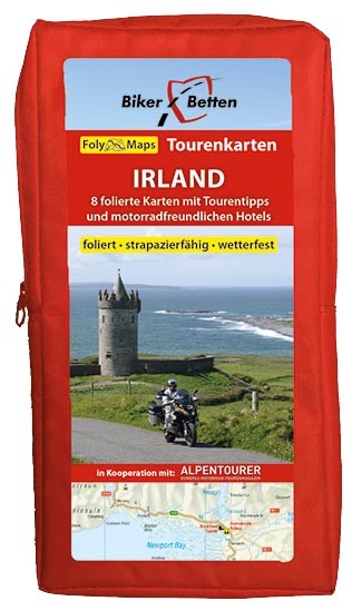 Motorrad Tourenkarten-Set Irland