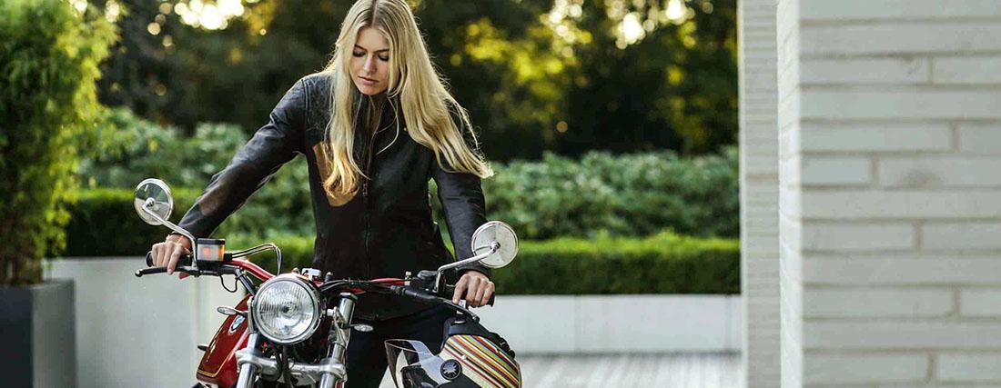 DIFI CHICA Motorradjacke Leder Damen