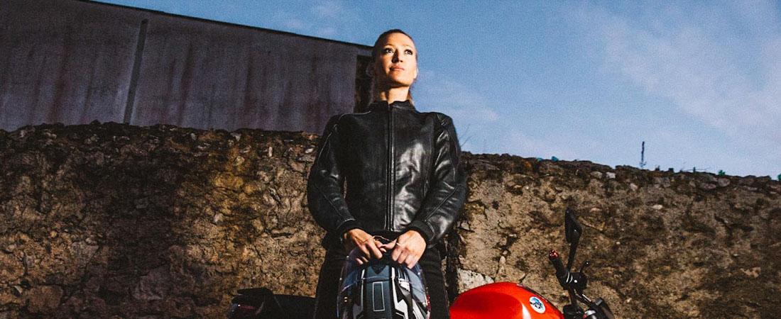 DIFI DIAMOND Motorradjacke Leder Damen