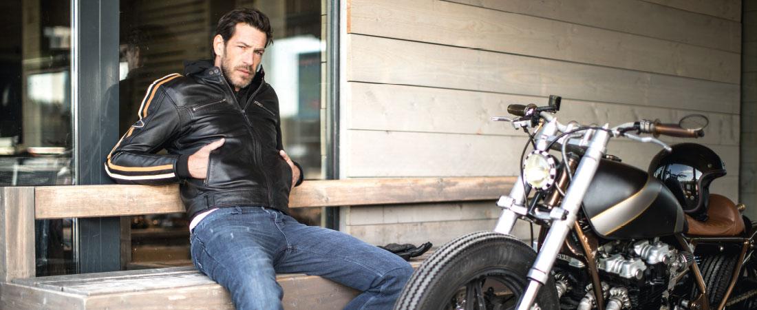 DIFI NEW ORLEANS Motorradjacke Leder Retro