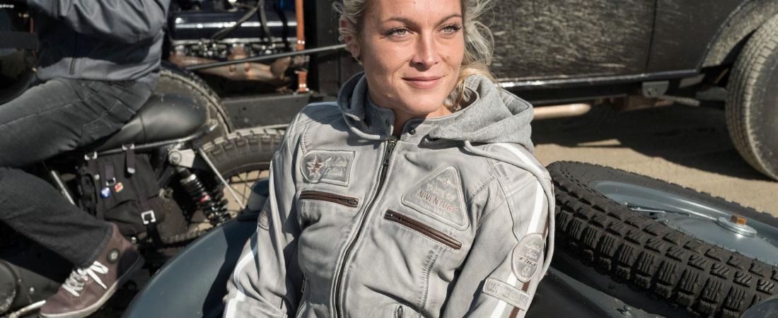 DIFI JOLENE Motorradjacke Leder Damen