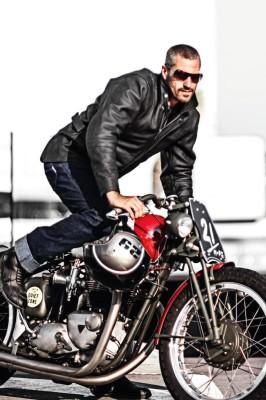 DIFI VERMONT Motorradjacke Leder Retro