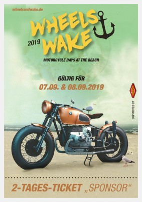 "Wheels and Wake 2019 / 2-Tages-Ticket ""Sponsor"""