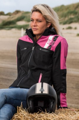 DIFI JAMIE LADY Motorrad Softshell-Kapuzenjacke Damen
