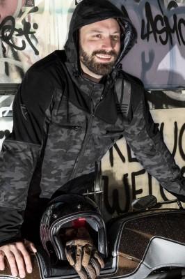DIFI JAMIE Motorrad Softshell-Kapuzenjacke