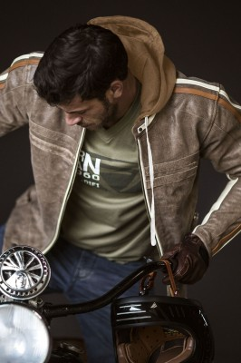 DIFI BULLET Motorradjacke Leder Retro