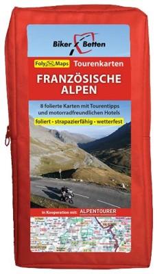 Motorrad Tourenkarten-Set Französische Alpen
