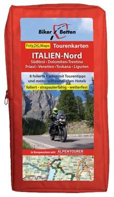 Motorrad Tourenkarten-Set Italien-Nord