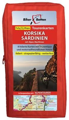 Motorrad Tourenkarten-Set Korsika/Sardinien