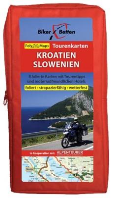 Motorrad Tourenkarten-Set Kroatien/Slowenien
