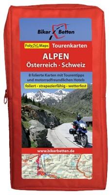 Motorrad Tourenkarten-Set Alpen Österreich/Schweiz